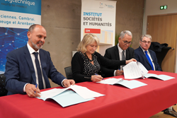 Signature de convention entre l'Université Polytechnique Hauts-de-France UPHF (IAE/ISH) et la Banque de France.